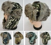 Aviator Hat with Fur Trim [Digital Camo]